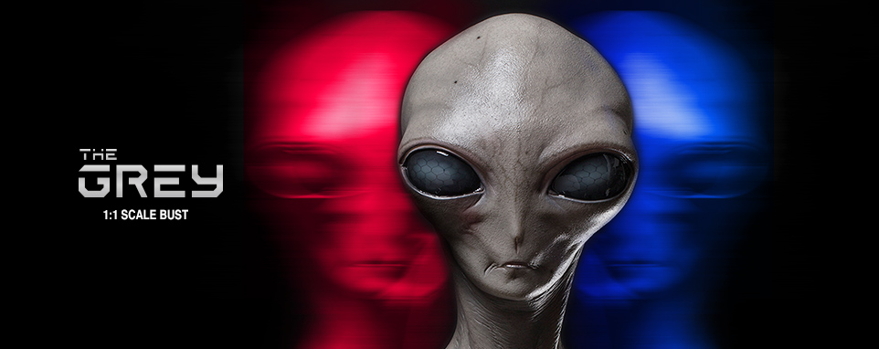 Elite Creature Grey Alien Bust