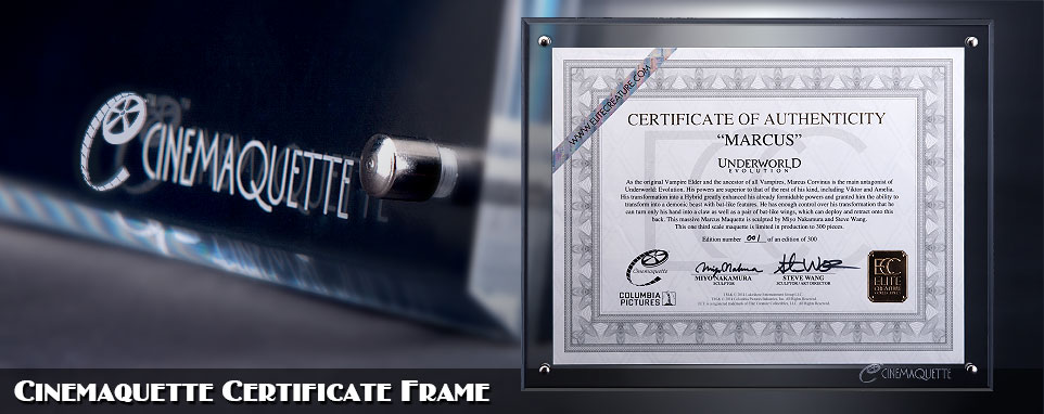 Cinemaquette Limited Edition COA Frame