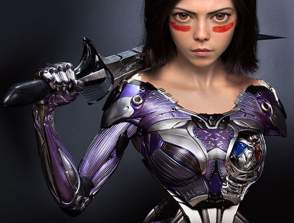 Queen Studios Alita Battle Angel Bust Exclusive